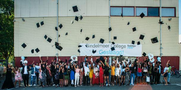 Het Bindelmeer College feliciteert alle geslaagde leerlingen