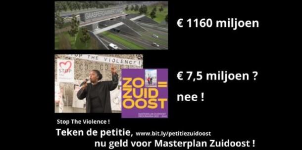Teken de petitie voor geld tegen het geweld