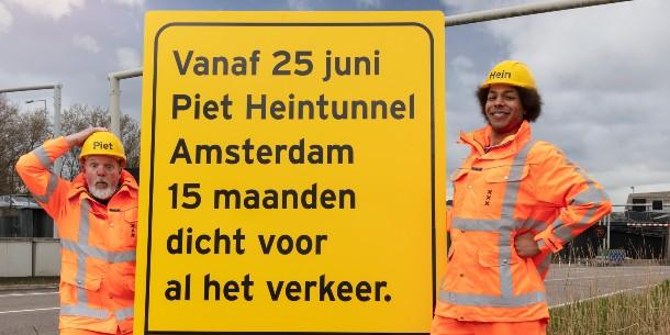 Piet Heintunnel 15 maanden dicht voor renovatie