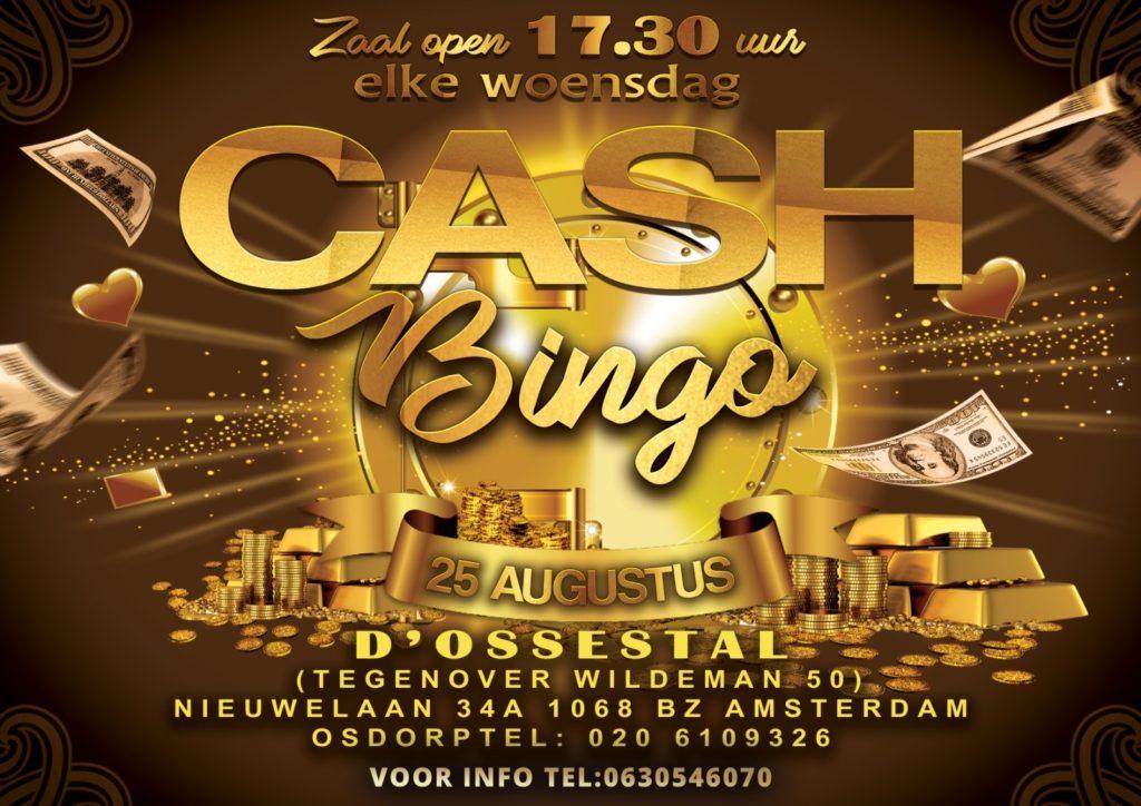 *ADVERTENTIE* Vanaf 25 augustus is er weer wekelijks een geldbingo in d'ossestal in Osdorp.